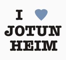 I <3 Jotunheim One Piece - Short Sleeve