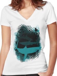 Infested Waters Women's Fitted V-Neck T-Shirt