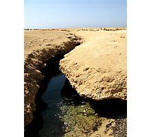 Ras Muhammed national park Egypt: earthquake crack Photographic Print