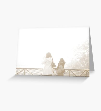Foggy Montmartre Greeting Card