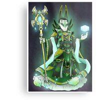 Loki- Emperor Style  Metal Print