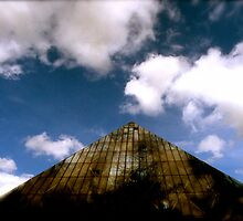 Glass Pyramid. by Malcolm Clark