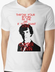 Throw your boobs in the air if you want some cumberlovin Mens V-Neck T-Shirt