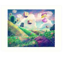 Princess Peach Landscape Art Print