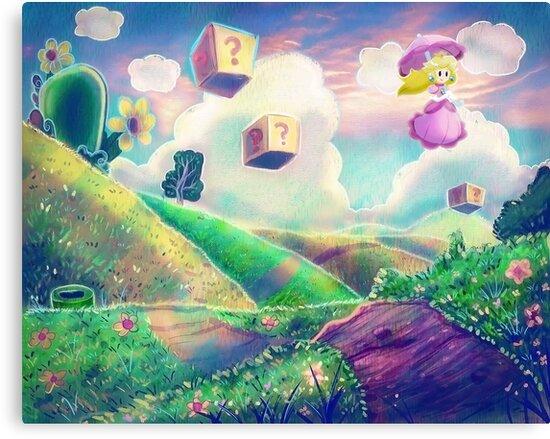 Princess Peach Landscape by SaradaBoru