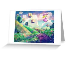 Princess Peach Landscape Greeting Card