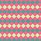 Argyle Yellow Pink Green Pattern by SaradaBoru