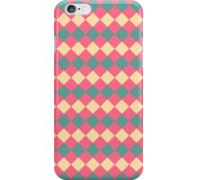Argyle Yellow Pink Green Pattern iPhone Case/Skin