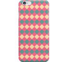 Argyle Yellow Pink Green Pattern iPhone Case/Skin