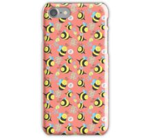 Silly Bees Pattern iPhone Case/Skin
