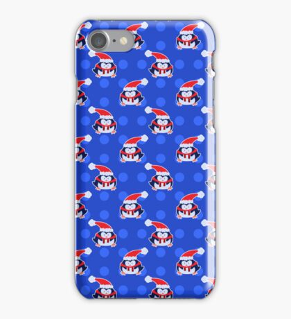 Blue Penguin Pattern iPhone Case/Skin