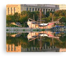 Santa Maria Sunset Reflections Canvas Print