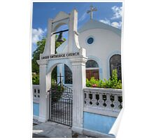 Greek Orthodox Church in Nassau, The Bahamas Poster