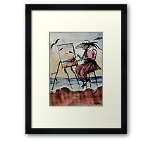 The plein air artist, watercolor Framed Print