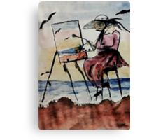 The plein air artist, watercolor Canvas Print