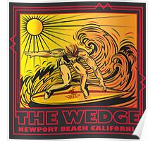 THE WEDGE NEWPORT BEACH CALIFORNIA Poster