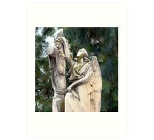 Angel headstone Art Print
