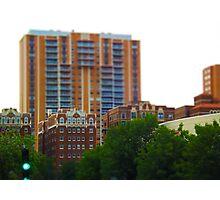 Tall Buildings on Brush Creek Tilt Shift Photographic Print