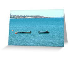 Boats at Victor Harbour, Adelaide, Australia Greeting Card