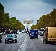Traffic in Paris, France by SharonYanai