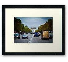 Traffic in Paris, France Framed Print