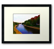 Brush Creek, Kansas City Tilt Shift Framed Print