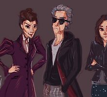 The Doctor Missy and Clara by Shani Bergman