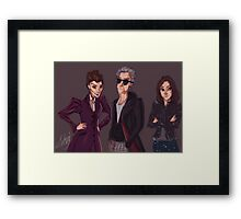 The Doctor Missy and Clara Framed Print