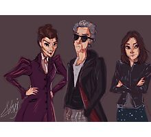 The Doctor Missy and Clara Photographic Print