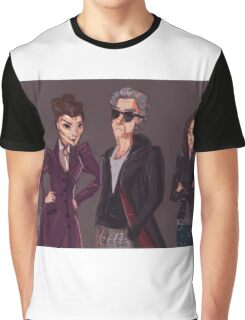The Doctor Missy and Clara Graphic T-Shirt