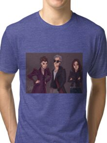 The Doctor Missy and Clara Tri-blend T-Shirt