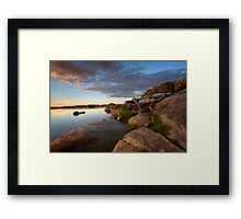 Edging Out Sunset Framed Print