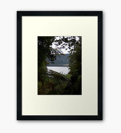 Through to Lake Framed Print