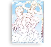 Skylark Trio Canvas Print