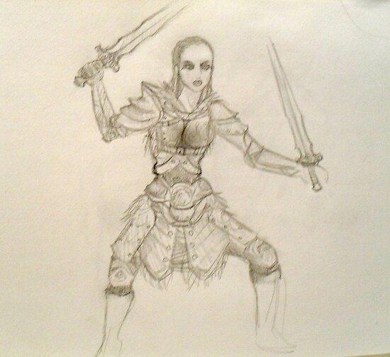 Spell Sword- Skyrim Rough Sketch by Aubrey Dunn