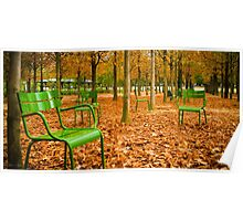 Green Chairs Poster