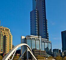 Eureka Tower, Yarra River Footbridge, Melbourne. by johnrf