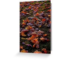 Instead of frosted flakes..how about some frosted leaves..ha ha Greeting Card