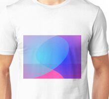 Blue Purple and Pink Minimalism Lake Unisex T-Shirt