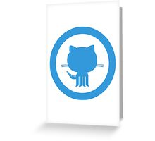 Github octocat logo art Greeting Card