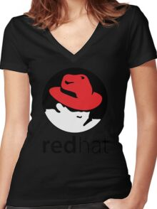 The Red Hat OS Women's Fitted V-Neck T-Shirt