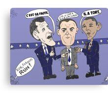 Caricature de ROMNEY GUMP et OBAMA Canvas Print