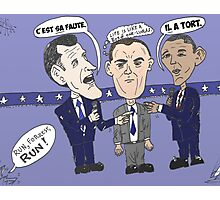 Caricature de ROMNEY GUMP et OBAMA Photographic Print