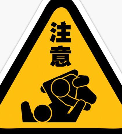 Beware of Jitz (Jiu Jitsu) - Original Sticker