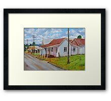 Old Shops – South Johnstone Framed Print