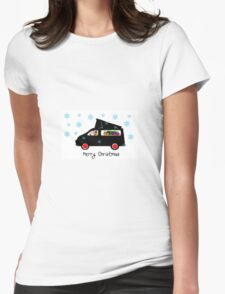 Santa's camper Womens Fitted T-Shirt