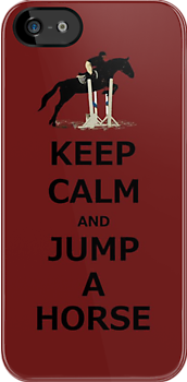 Keep Calm & Jump A Horse iPhone or iPod Case by Patricia Barmatz
