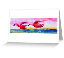 Flying together, watercolor Greeting Card