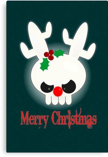 Reindeer of Doom Christmas Greetings by Jellyscuds