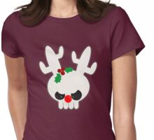 Reindeer of Doom Christmas Greetings Womens Fitted T-Shirt